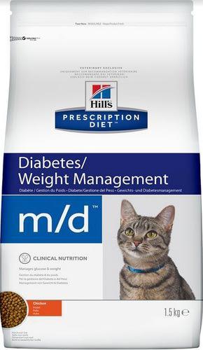 HILL'S PD Feline m/d Для кошек, обмен веществ, лечение сахарного диабета, ожирение, сух.1,5кг (фото)