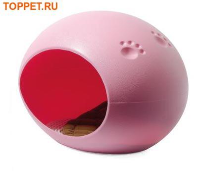 V.I.Pet Домик-лежанка овальный 60*40*40 см, пластиковый