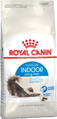 Royal Canin Сухой корм Indoor Long Hair 2 кг для домашних длинношерстных кошек