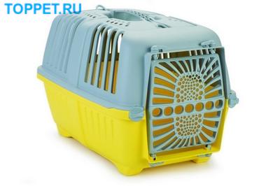Beeztees Переноска Pratiko серо-желтая 48*31*33см (фото)