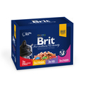 Brit Care Premium Набор паучей для кошек Семейная тарелка 12*100г