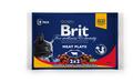 Brit Care Premium Набор паучей для кошек Мясная тарелка 4*100г
