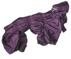 ZooAvtoritet Дождевик Дутик для средних пород собак, фиолетовый, размер 3XL, спина 48см