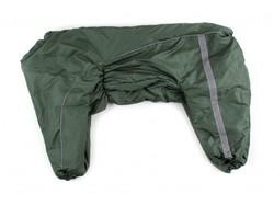 ZooPrestige Комбинезон для немецкой овчарки зеленый, размер 8XL, спина 75см
