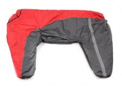 ZooPrestige Комбинезон для крупных собак красный/серый, размер 8XL, спина 75см