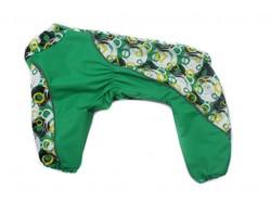 ZooAvtoritet Дождевик для собак, зеленый, размер 2XL, спина 42см