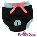 ForMyDogs Трусики для собак для гигиены черные для девочки, размер №14, №16