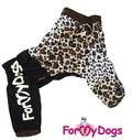 """ForMyDogs Дождевик для больших пород собак """"ЛЕО"""" коричневый, модель для девочки, размер D1"""