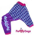 ForMyDogs Дождевик для больших пород собак синий/фиолетовый, модель для мальчиков, размер С2