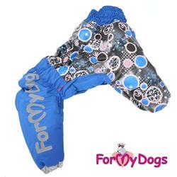 ForMyDogs Комбинезон для крупных собак синий, модель для мальчиков, размер D2