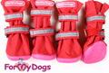 ForMyDogs Сапоги для средних и больших собак из непромокаемой двухслойной ткани на резиновой подошве, цвет красный, размер №5, №8
