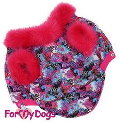 ForMyDogs Курточка для собак из водоотталкивающего полиэстера на меху, размер 16, 18