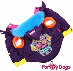 ForMyDogs Куртка для собак теплая без рукавов фиолетовая, размер 20