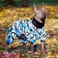 ForMyDogs Комбинезон для собак из плюшевого меха, размер 12, модель для мальчиков