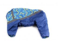ZooPrestige Комбинезон для собак, размер 3XL, спина 44м, синий/орнамент
