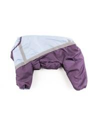 ZooPrestige Комбинезон утепленный, размер 3XL, синтепон, светоотражающие полосы, голубой/фиолетовый, спина 42см