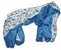 ZooPrestige Комбинезон для собак, размер 2XL, спина 40см, белый/голубой