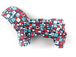 "ZooPrestige Комбинезон для собак Дутик, ""Мозайка"", размер S, спина 22-26см"