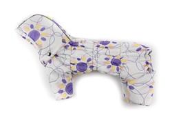 ZooAvtoritet Комбинезон для собак Дутик, белый/сиреневый, размер М, спина 27-31см