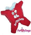 ForMyDogs Комбинезон для собак из водоотталкивающего полиэстера на синтепоне, подкладка меховая, модель для девочек, размер 18