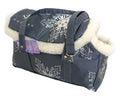 DOGMAN Сумка -переноска модельная, теплая с мехом №8М, серая, 39х19х24см
