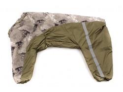 ZooPrestige Комбинезон утепленный бежевый/хаки, размер 8XL, спина 75см