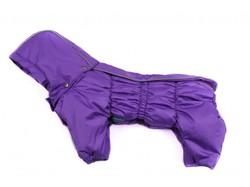 ZooAvtoritet Комбинезон для собак Дутик, сиреневый, синтепон, размер М