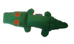 """Osso Fashion Игрушка для собак из флиса Крокодил с """"неубиваемой"""" пищалкой 38,0х 8,0 см"""