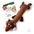 GiGwi Игрушка для собак Лиса с большой и малой пищалкой