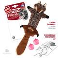 GiGwi Игрушка для средних и крупных собак Волк с пищалками 37см