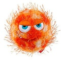 GiGwi Игрушка для собак Grazy Ball Мяч с пищалкой 7см