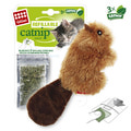 GiGwi Игрушка для кошек Бобрёнок с кошачьей мятой 16см