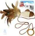 GiGwi Игрушка для кошек Дразнилка Рыбка на палец с кольцом
