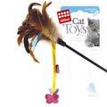 GiGwi Игрушка для кошек Дразнилка с бабочкой и перьями