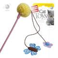 GiGwi Игрушка для кошек Дразнилка с бабочкой, цветком и помпоном