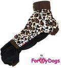 """ForMyDogs Дождевик для таксы """"Лео"""" из непромокаемой ткани, модель для девочек, размер ТМ2"""
