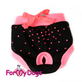 ForMyDogs Трусики для собак черно/розовые для девочки, размер №10