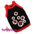 ForMyDogs Майка для собак мелких и пород из трикотажа черная, размер №18