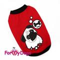 ForMyDogs Футболка для собак из хлопкового полотна, цвет красный, размер 16