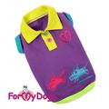 ForMyDogs Футболка-поло для собак цвет фиолетовый, размер 12