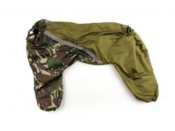 ZooAvtoritet Дождевик для больших собак, камуфляж зеленый/хаки, размер 5XL, спина 60см
