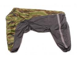 ZooPrestige Дождевик для крупных пород собак, хаки/камуфляж, размер 8XL, спина 75см