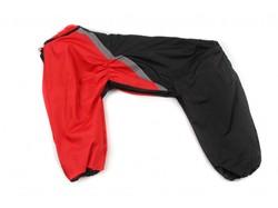 ZooAvtoritet Дождевик для крупных пород собак, черно/красный, размер 5XL, спина 60см