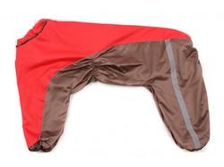 ZooAvtoritet Дождевик для крупных пород собак, красно/коричневый, размер 8XL, спина 72см