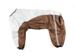 ZooPrestige Дождевик для крупных пород собак, серо/коричневый, размер 8XL, спина 75см