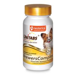 Unitabs BreversComplex с Q10 Витамины для собак мелких пород с пивными дрожжами 100таб
