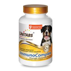 Unitabs ImmunoComplex с Q10 Витамины для собак крупных пород 100таб