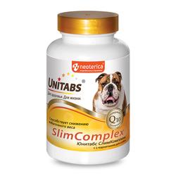Unitabs SlimComplex с Q10 Витамины для собак для укрепления иммунитета 100таб