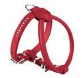 Hunter Шлейка для собак Round&Soft 45/6 (30/37-43 см) кожа стразы красная