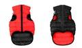 AiryVest Жилетка двусторонняя для собак, красно-черная, размер XS, S, L